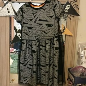 Cat and Jack mummy black mesh dress